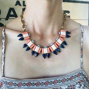 ♥️ J.Crew ♥️ Pink & Blue Statement Necklace